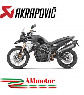 Akrapovic Bmw F 800 Gs Adventure Terminale Di Scarico Slip-On Line Titanio Black Moto Omologato