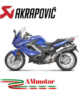 Akrapovic Bmw F 800 Gt Terminale Di Scarico Slip-On Line Titanio Black Moto Omologato