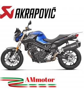 Akrapovic Bmw F 800 R Terminale Di Scarico Slip-On Line Titanio Black Moto Omologato