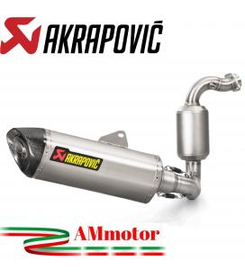 Akrapovic Bmw G 310 Gs Impianto Di Scarico Completo Racing Line Terminale Inox Moto