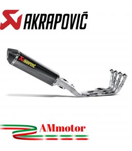 Akrapovic Bmw K 1200 R Impianto Di Scarico Completo Racing Line Terminale Carbonio Moto