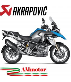 Akrapovic Bmw R 1200 Gs 13 2016 Terminale Di Scarico Slip-On Line Titanio Black Moto Omologato