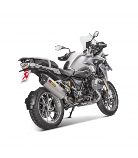 Akrapovic Bmw R 1200 Gs 17 2018 Terminale Di Scarico Slip-On Line Titanio Moto Omologato Euro 4