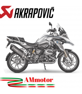 Akrapovic Bmw R 1200 Gs 17 2018 Terminale Di Scarico Slip-On Line Titanio Black Moto Omologato Euro 4