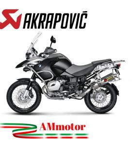 Akrapovic Bmw R 1200 Gs Adventure 04 2009 Terminale Di Scarico Slip-On Line Titanio Moto Omologato