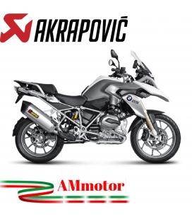 Akrapovic Bmw R 1200 Gs Adventure 14 2016 Terminale Di Scarico Slip-On Line Titanio Moto Omologato