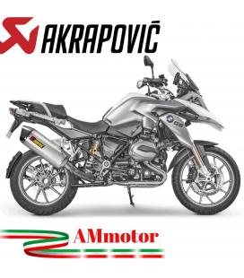 Akrapovic Bmw R 1200 Gs Adventure 17 2018 Terminale Di Scarico Slip-On Line Titanio Moto Omologato Euro 4