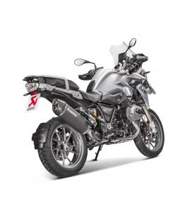 Akrapovic Bmw R 1200 Gs Adventure 17 2018 Terminale Di Scarico Slip-On Line Titanio Black Moto Omologato Euro 4
