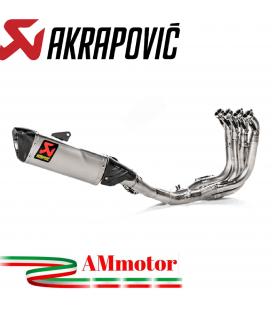 Akrapovic Bmw S 1000 RR Impianto Di Scarico Completo Evolution Line Terminale Collettori Full Titanio Moto