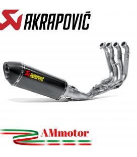 Akrapovic Bmw S 1000 R 14 2016 Impianto Di Scarico Completo Racing Line Terminale Carbonio Moto