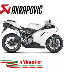 Akrapovic Ducati 848 Terminali Di Scarico Slip-On Line Carbonio Moto