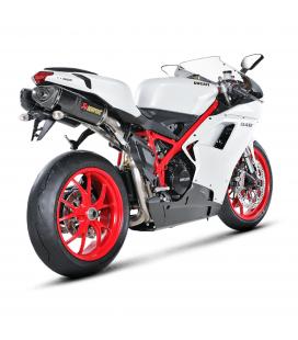 Akrapovic Ducati 848 Evo Terminali Di Scarico Slip-On Line Carbonio Moto