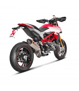 Akrapovic Ducati Hypermotard 821 Terminale Di Scarico Slip-On Line Titanio Moto Omologato