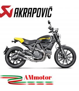 Akrapovic Ducati Scrambler 800 Terminali Di Scarico Slip-On Line Titanio Black Moto