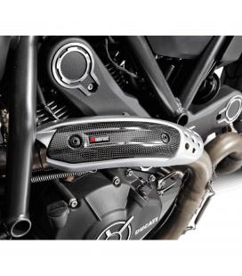 Paracalore Akrapovic In Fibra Di Carbonio Per Ducati Scrambler 800 Moto