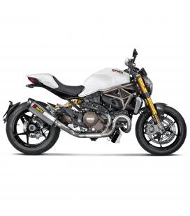 Ducati Monster 1200 / S Collettore Di Scarico Akrapovic Tubo Elimina Kat Catalizzatore Evolution Titanio Moto