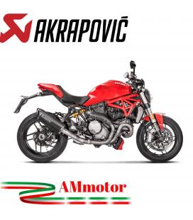 Akrapovic Ducati Monster 1200 / S 17 2019 Terminale Di Scarico Slip-On Line Titanio Black Moto