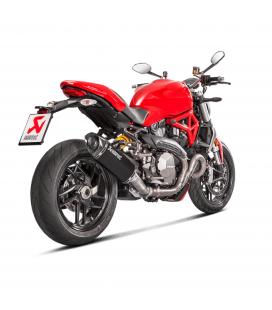 Akrapovic Ducati Monster 1200 R Terminale Di Scarico Slip-On Line Titanio Black Moto