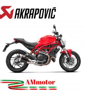 Akrapovic Ducati Monster 797 Terminali Di Scarico Slip-On Line Titanio Black Moto