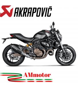 Akrapovic Ducati Monster 821 14 2016 Terminale Di Scarico Slip-On Line Titanio Black Moto