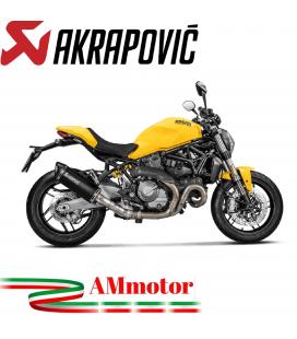 Akrapovic Ducati Monster 821 17 2019 Terminale Di Scarico Slip-On Line Titanio Black Moto