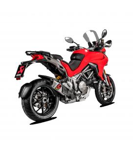 Akrapovic Ducati Multistrada 1200 15 2017 Terminale Di Scarico Slip-On Line Titanio Moto Omologato