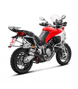 Akrapovic Ducati Multistrada 1200 Enduro Terminale Di Scarico Slip-On Line Titanio Moto Omologato
