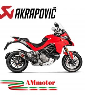Akrapovic Ducati Multistrada 1200 S 15 2017 Terminale Di Scarico Slip-On Line Titanio Moto Omologato