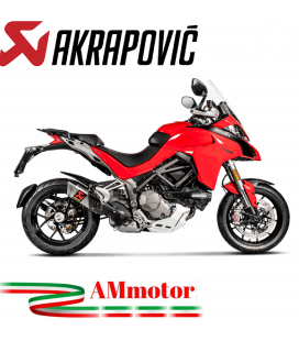 Akrapovic Ducati Multistrada 1260 / 1260 S Terminale Di Scarico Slip-On Line Titanio Moto Omologato