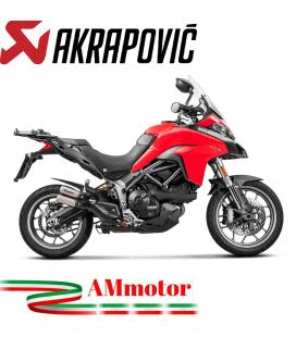 Akrapovic Ducati Multistrada 950 / S Terminale Di Scarico Slip-On Line Titanio Moto Omologato