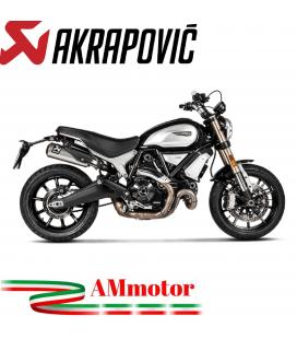 Akrapovic Ducati Scrambler 1100 Terminali Di Scarico Slip-On Line Titanio Moto Omologato