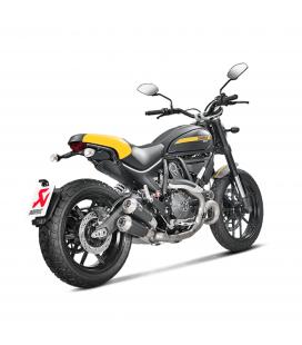 Ducati Scrambler 800 Collettore Di Scarico Akrapovic Tubo Elimina Kat Catalizzatore Titanio Moto