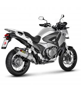 Akrapovic Honda Vfr 1200X Crosstourer 12 2015 Terminale Di Scarico Slip-On Line Titanio Moto Omologato