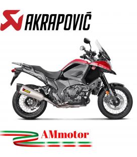 Akrapovic Honda Vfr 1200X Crosstourer 16 2019 Terminale Di Scarico Slip-On Line Titanio Moto Omologato