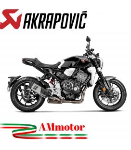 Akrapovic Honda Cb 1000 R 18 2019 Terminale Di Scarico Slip-On Line Titanio Moto Omologato