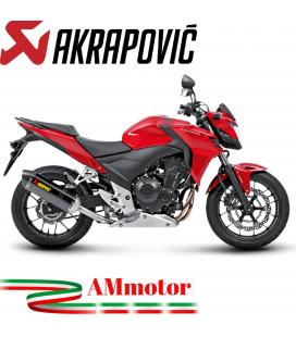 Akrapovic Honda Cb 400 / 500 F Terminale Di Scarico Slip-On Line Carbonio Moto Omologato