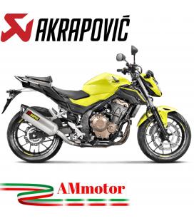 Akrapovic Honda Cb 500 F Terminale Di Scarico Slip-On Line Inox Moto Omologato