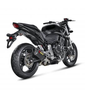 Akrapovic Honda Cb 600 F Hornet Terminale Di Scarico Slip-On Line Carbonio Moto Omologato