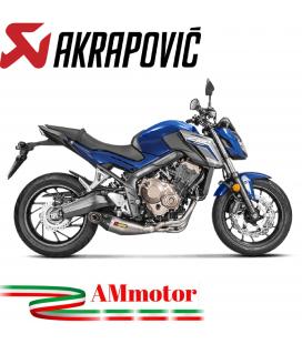 Akrapovic Honda Cb 650 F Impianto Di Scarico Completo Racing Line Terminale Titanio Moto