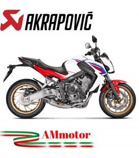 Akrapovic Honda Cb 650 F Impianto Di Scarico Completo Racing Line Terminale Titanio Moto Omologato