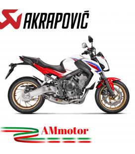 Akrapovic Honda Cb 650 F Impianto Di Scarico Completo Racing Line Terminale Titanio Moto Non Omologato