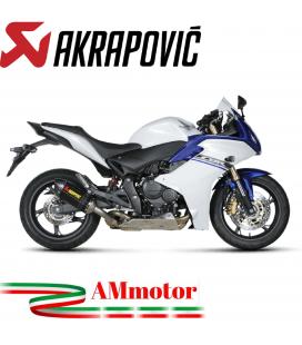 Akrapovic Honda Cbr 600 F Terminale Di Scarico Slip-On Line Carbonio Moto Omologato