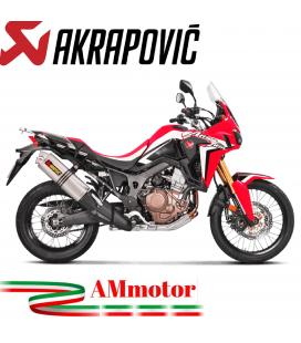 Akrapovic Honda Crf 1000L Africa Twin 18 2019 Terminale Di Scarico Slip-On Line Titanio Moto Omologato