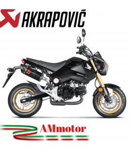 Akrapovic Honda Msx 125 / Grom Terminale Di Scarico Slip-On Line Carbonio Moto Omologato