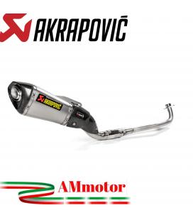 Akrapovic Honda Msx 125 / Grom Impianto Di Scarico Completo Racing Line Terminale Titanio Moto