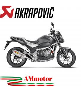 Akrapovic Honda Nc 700 / 750 S 16 2019 Terminale Di Scarico Slip-On Line Titanio Moto Omologato