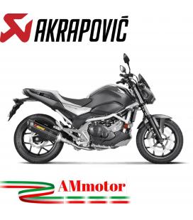 Akrapovic Honda Nc 700 / 750 S Terminale Di Scarico Slip-On Line Carbonio Moto Omologato