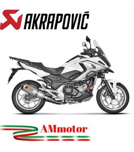 Akrapovic Honda Nc 700 / 750 X 16 2019 Terminale Di Scarico Slip-On Line Titanio Moto Omologato