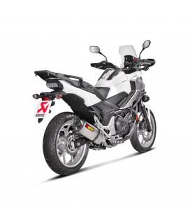Akrapovic Honda Nc 700 / 750 X Terminale Di Scarico Slip-On Line Titanio Moto Omologato