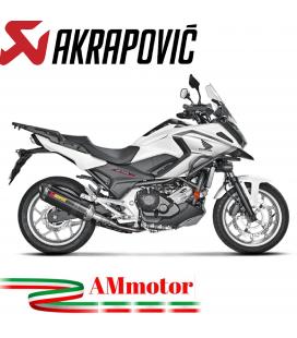Akrapovic Honda Nc 700 / 750 X 16 2019 Terminale Di Scarico Slip-On Line Carbonio Moto Omologato